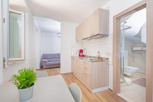 A kitchen or kitchenette at Apartments Aquarius