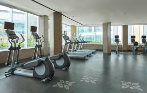 The fitness center and/or fitness facilities at Yogyakarta Marriott Hotel
