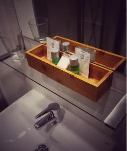 A bathroom at Hotel Dabeleira