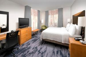A television and/or entertainment center at Fairfield Inn & Suites by Marriott Miami Airport South