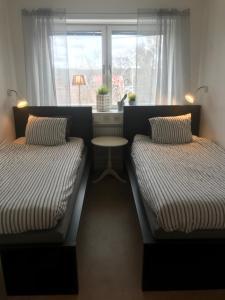 Säng eller sängar i ett rum på Kolmårdens Vandrarhem