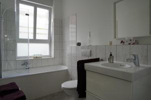 A bathroom at Altstadtwohnung mit eigenem Hauseingang