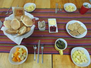 Breakfast options available to guests at Magic Cusco