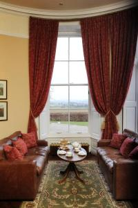 A seating area at Solberge Hall Hotel
