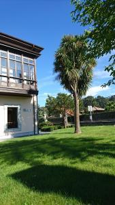 Jardín al aire libre en Hotel Villa Marrón