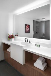 A bathroom at The D Las Vegas