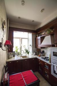 A kitchen or kitchenette at Apartment on Frunzenskaya 48