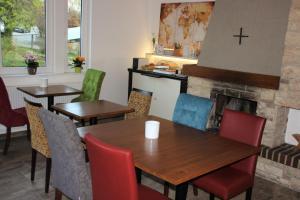 Ein Restaurant oder anderes Speiselokal in der Unterkunft Haus im Donautal