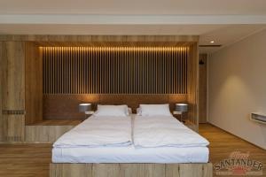 Кровать или кровати в номере Hotel Santander