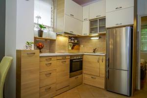 Kuchyň nebo kuchyňský kout v ubytování Yellow Bike Apartment