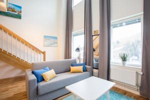 O zonă de relaxare la ApartDirect Hammarby Sjöstad