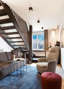 Ein Sitzbereich in der Unterkunft Hotel Innsbruck