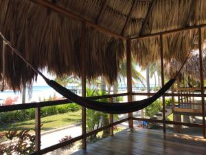 A balcony or terrace at St. George's Caye Resort