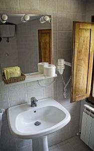 A bathroom at Podere il Vecchio Mulino