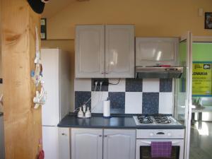 Kuchyňa alebo kuchynka v ubytovaní Privát na Sihoti 1