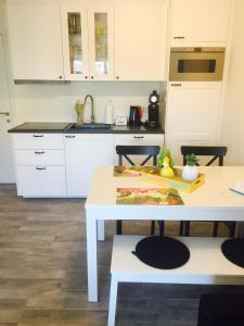 Cuisine ou kitchenette dans l'établissement Vakantiestudio Melroce