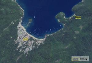 A bird's-eye view of Bonito Paraiso Ilha Grande
