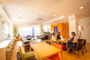 A restaurant or other place to eat at K's House Kyoto -Travelers Hostel
