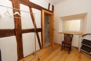 Ein Sitzbereich in der Unterkunft Klosterherberge