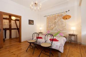 Ein Bett oder Betten in einem Zimmer der Unterkunft Klosterherberge