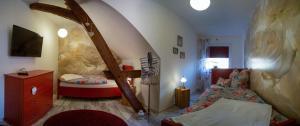 """Ein Sitzbereich in der Unterkunft Ferienhaus """"Landromantik"""""""