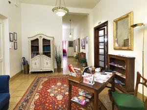 Zona de estar de Residenza Oltrarno