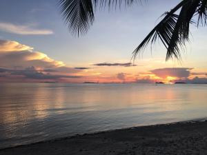 O nascer ou o pôr do sol visto a partir do resort