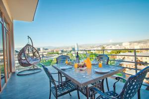 A balcony or terrace at Hotel Orion Tbilisi