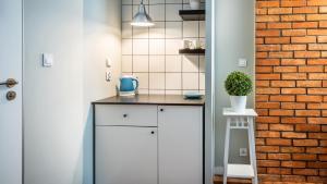 Kuchyňa alebo kuchynka v ubytovaní Flamingo Premium Hostel