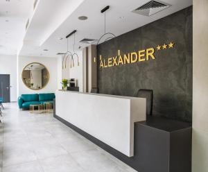 The lobby or reception area at Hotel Alexander