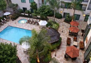 A view of the pool at Courtyard by Marriott Los Angeles Pasadena Old Town or nearby