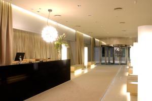 The lobby or reception area at Hotel Nuevo Madrid