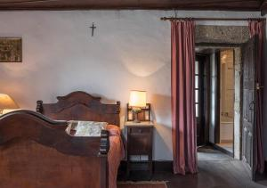 Uma cama ou camas num quarto em Casas de Selhariz