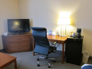 A television and/or entertainment center at Holiday Inn Express Toronto East, an IHG Hotel