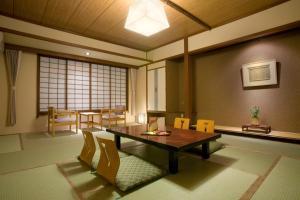 A seating area at Onyado Tsutaya