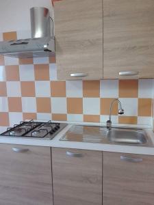 Küche/Küchenzeile in der Unterkunft Casa vacanza