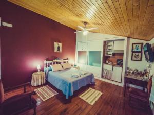 Cama o camas de una habitación en Casa Spa Don Gonzalo