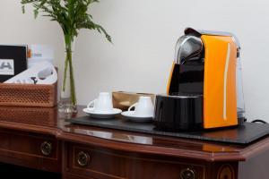 Coffee and tea-making facilities at Hotel Praga