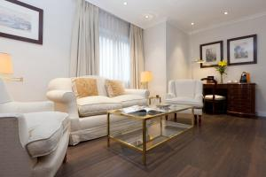 A seating area at Hotel Praga