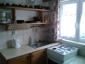 Kuchyň nebo kuchyňský kout v ubytování Chata Bešeňová