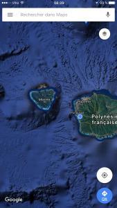 Uma vista aérea de Mata Miti Villa Paradise Tahiti