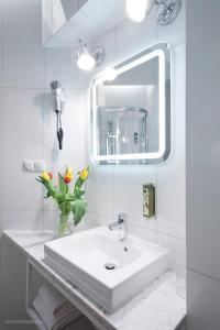 A bathroom at Hotel Justyna