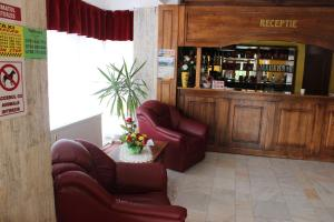 The lounge or bar area at Hotel Ciucas