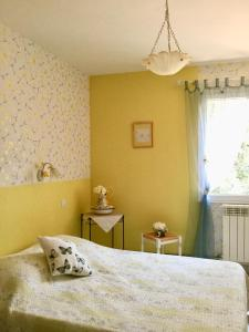 Un ou plusieurs lits dans un hébergement de l'établissement La Vigne Des Heures Claires