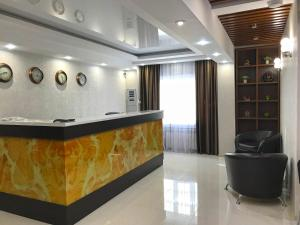The lobby or reception area at Kontinent Hotel