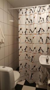 A bathroom at Kauņas 63