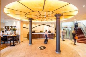 Das Fitnesscenter und/oder die Fitnesseinrichtungen in der Unterkunft Hotel Schweizerhof Basel