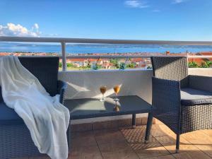 Balkón nebo terasa v ubytování Apartman MiMi