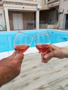 "The swimming pool at or near Casa vacanze ""La Caldosa"""
