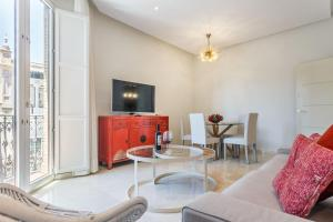 A seating area at Apartamento Living By Cathedral